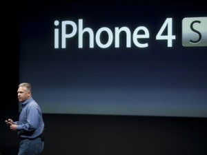 Phil Schiller of Apple announces the iPhone 4S