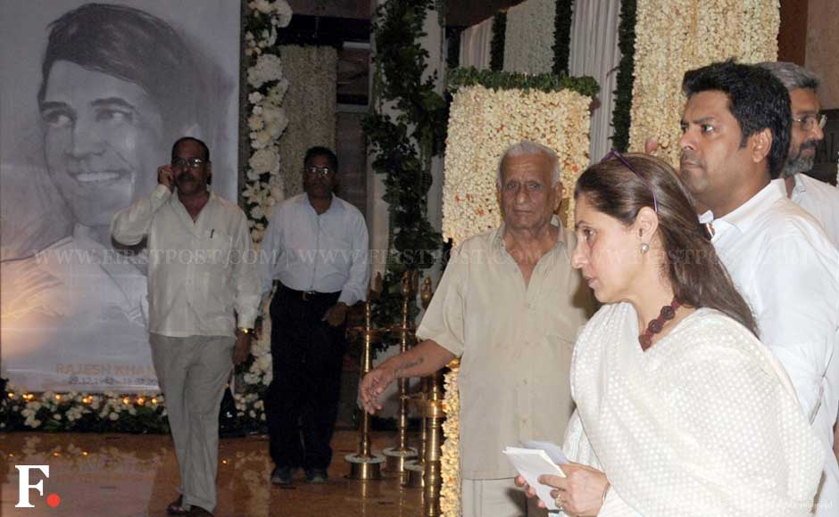 Dimple Kapadia at her husband's Chautha ceremony held at the Taj Land's End, Mumbai. Sachin Gokhale/Firstpost
