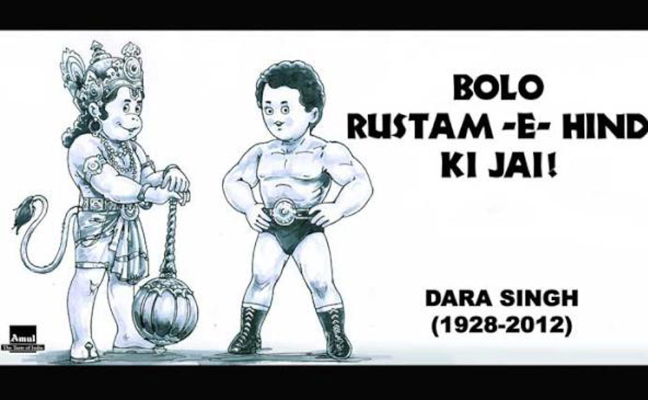 Amul pays tribute to Dara Singh.