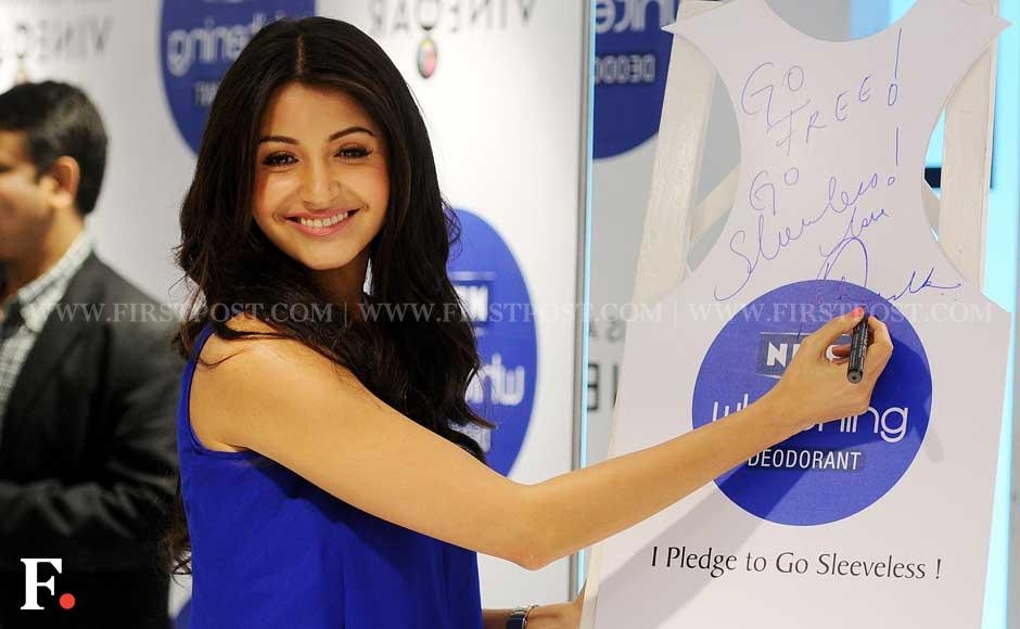 Anushka Sharma at 'Nivea Go Sleeveless' event in Khar, Mumbai. Sachin Gokhale/Firstpost