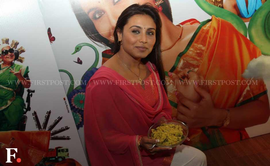 Rani Mukherji at a special chaha poha event to promote her film Aiyaa. Sachin Gokhale/Firstpost
