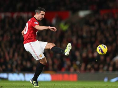 Van Persie scored his 12th goal in all competitions. Getty Images