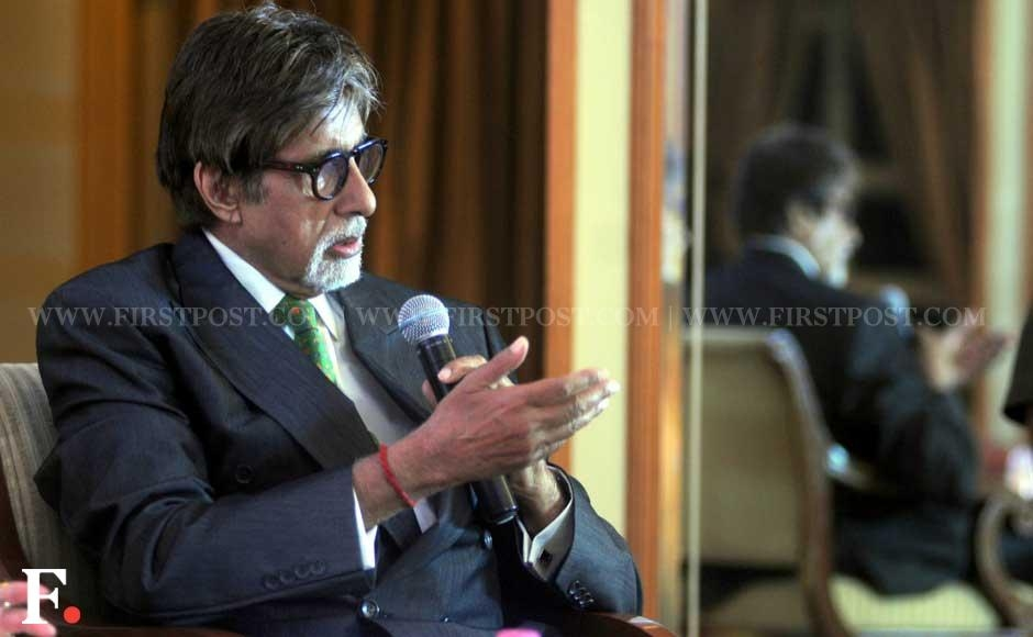"Amitabh Bachchan speaking at the launch of ""Mohammed Rafi My Abba - A Memoir"", a book written by Mohammad Rafi's daughter-in-law Yasmin Rafi. Sachin Gokhale/Firstpost"