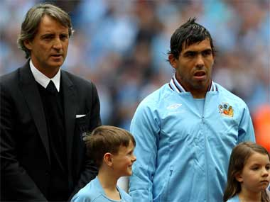 Tevez and Mancini will want this win badly. Getty Images