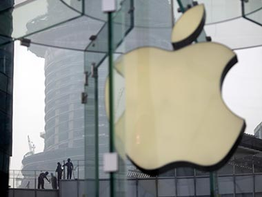 The Apple logo is seen in this file photo. AP