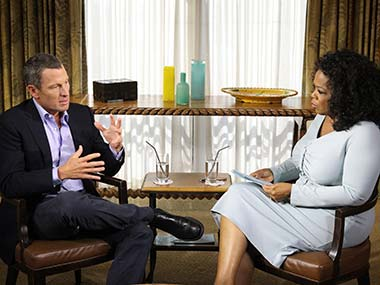 Armstrong didn't give too much away in his interview. Getty Images