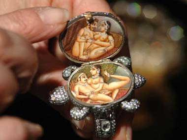 A tortoise ring decorated with kama sutra artwork: Reuters