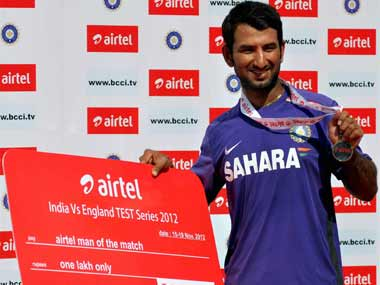 Pujara was a star in the Test series. PTI