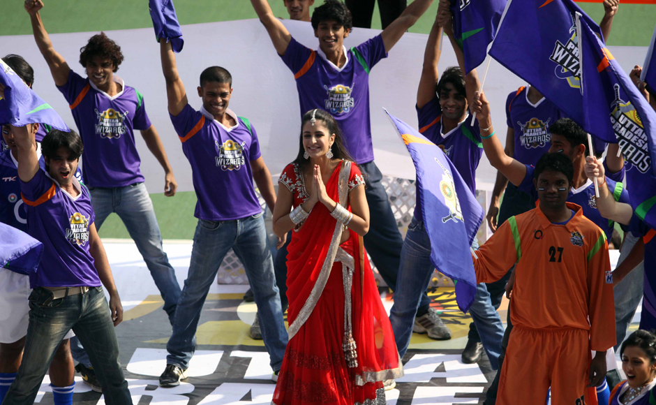 Katrina Kaif performance during UP Wizards and Delhi Waveriders Match at Lucknow on 19th Jan 2013. Firstpost