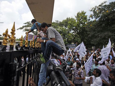 Protests over Telangana. Agencies.