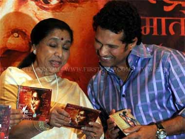 Asha Bhosle at the launch of the album for her film 'Mai'. Sachin Gokhale/ Firstpost