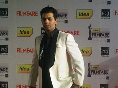 Karan Johar at the Filmfare awards. IBN-Live