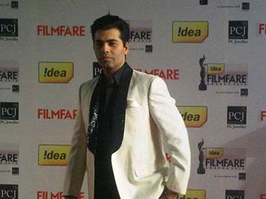 Karan Johar at the Filmfare awards. IBN-Live