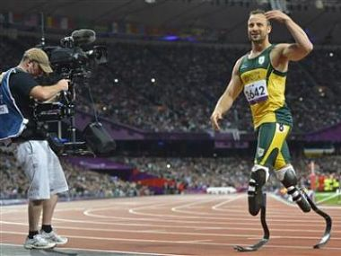 A file photo of Pistorius. Agencies.