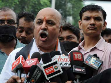 Togadia has remained defiant. AFP
