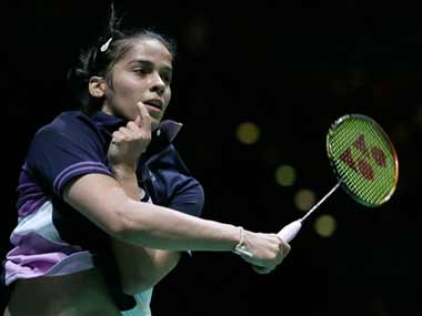 Saina at the All England tournament. AP