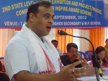 Assam Health and Education Minister Himanta Biswa Sarma. Image courtesy Facebook