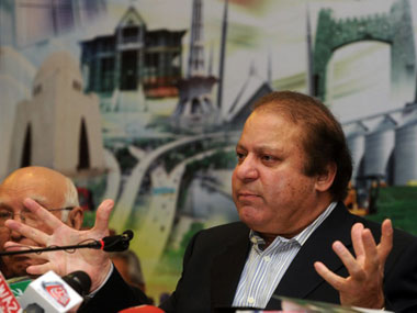 PML-N chief Nawaz Sharif and former Pakistan Prime Minister Nawaz Sharif. AFP