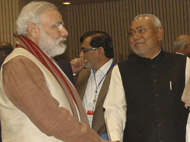 Nitish Kumar and Narendra Modi  AFP