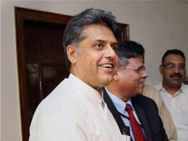 Manish Tewari will do good to remember his own party's dictators. PTI.
