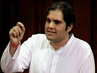Varun Gandhi isn't afraid of contesting from Sultanpur, his father's former constituency. PTI