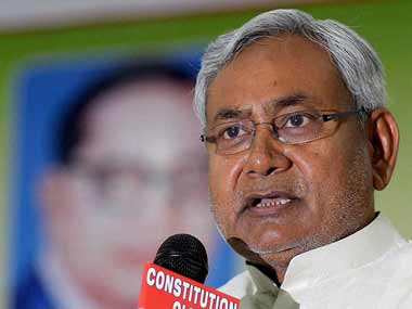 Nitish Kumar in this file photo. PTI