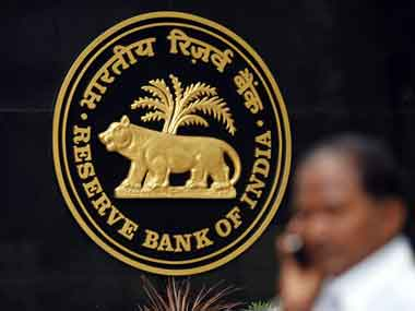 The Reserve Bank of India logo. Reuters