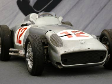 Fangio drove the W196 in the 1954 and 1955 seasons. Reuters