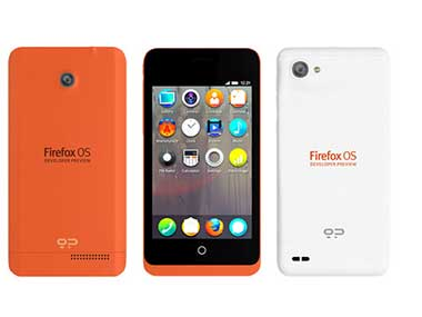 Firefox smartphones in this file photo. Image from Mozilla website.