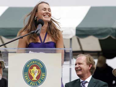 Hingis, who was seemingly born to play tennis and succeeded in fulfilling her destiny, told the crowd she was humbled by the honour. Reuters