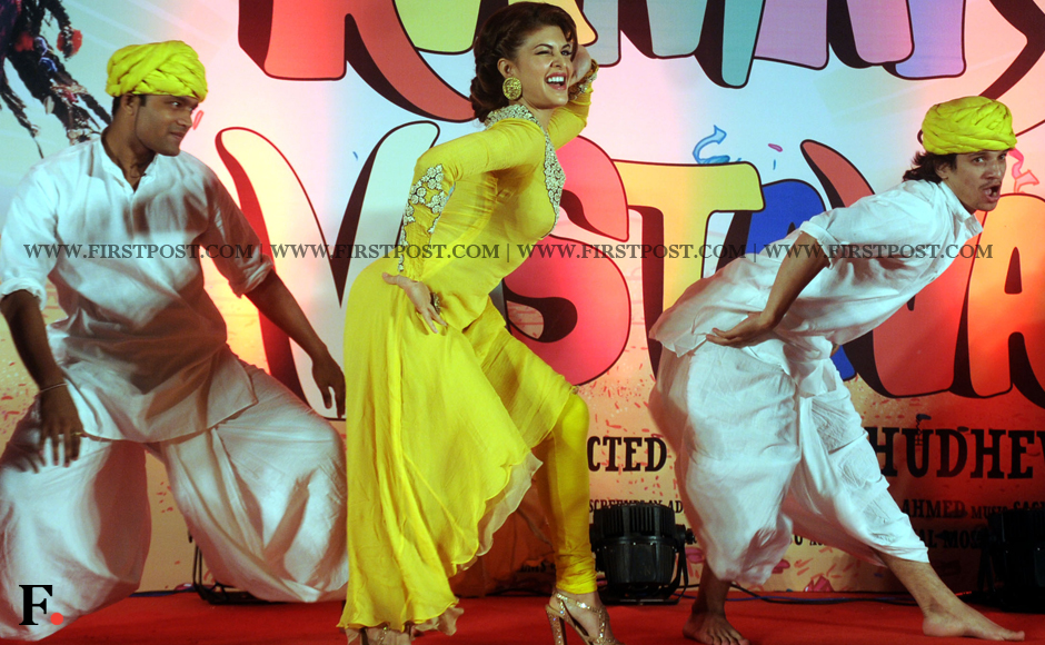 Jacqueline Fernandez gyrating at the launch of the song, Jadu Ki Jhappi. Sachin Gokhale/Firstpost