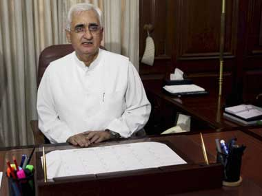 External Affairs Minister Salman Khurshid. PTI