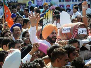 BJP MP from Amritsar Navjot Singh Sidhu. AFP