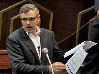 Omar Abdullah in this file photo. PTI
