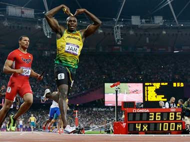 Usain Bolt at the Olympics: AP