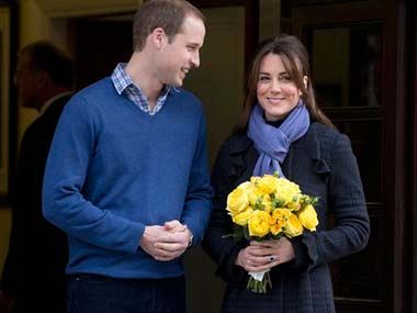 William and Kate. AP