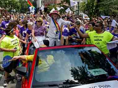 A gay pride parade in New York. AP