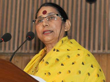 Minister for Women and Child Development Krishna Tirath. Image courtesy PIB
