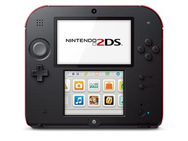 The Nintendo 2DS is seen in this product images.