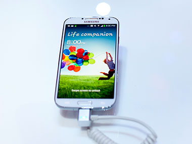 A Samsung Galaxy S4 smartphone is seen in this  file photo. Getty Images.