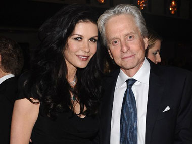 Catherine Zeta Jones and Michael Douglas. AFP.