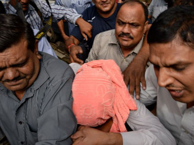 The juvenile held guilty in the gangrape of a student in Delhi. AFP