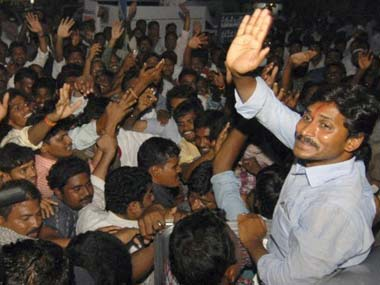 YSR Congress Chief Jagan Reddy.