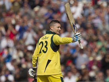 Michael Clarke was in superb form for the Aussies. AP
