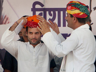 Rahul at Alwar yesterday: PTI