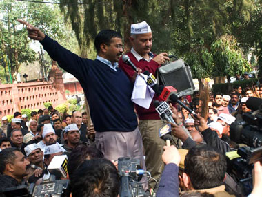 Bad press but a good political push? Kejriwal during his two day long dharna. Naresh Sharma/ Firstpost