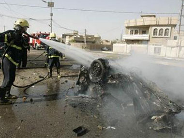 Blasts in Iraq. Reuters image