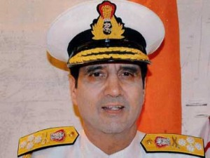 Indian Navay chief Admiral RK Dhowan. PTI