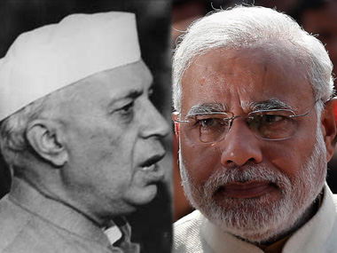 Jawaharlal Nehru and Narendra Modi in file photos.