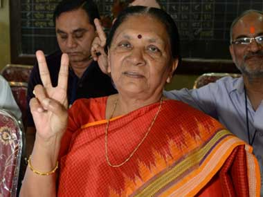Has Anandiben Patel checkmated Amit Shah's prospects as the  next Gujarat CM?
